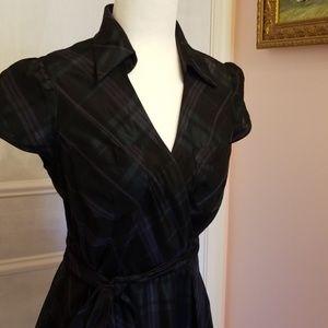 Donna Ricco taffeta plaid dress
